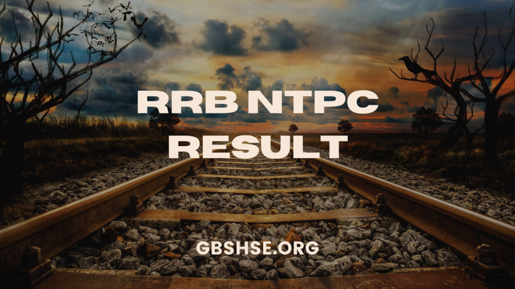 RRB NTPC CBT 1 RESULT