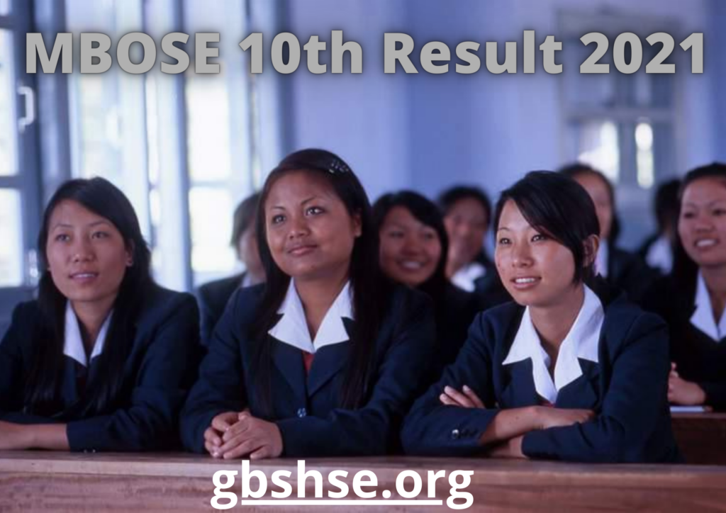 MBOSE 10th Result 2021